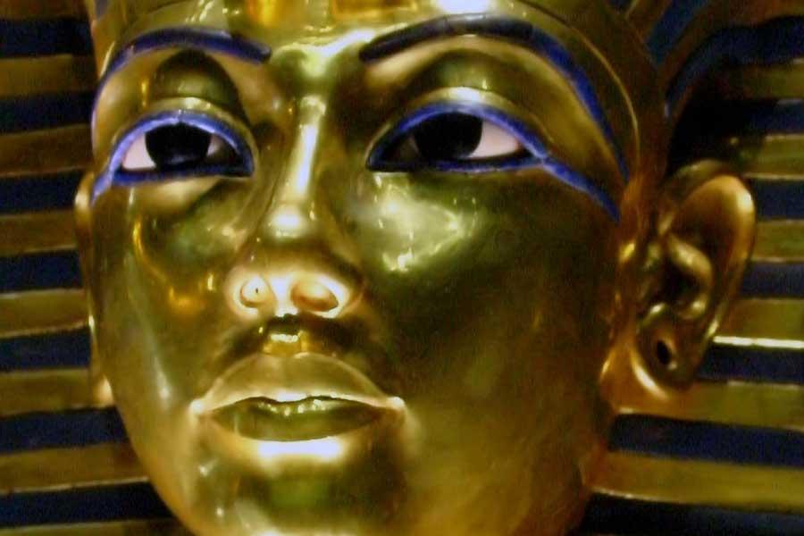 Totenmaske des Pharaos Tutanchamun (Detail)