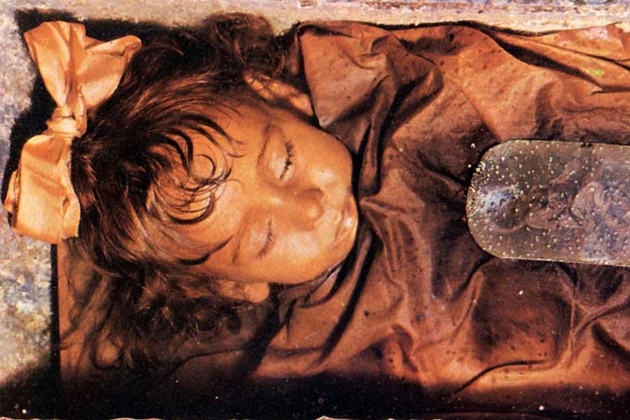 Die zweijährige Rosalia Lombardo ist 1920 als letzte in der Gruft beigesetzt worden.