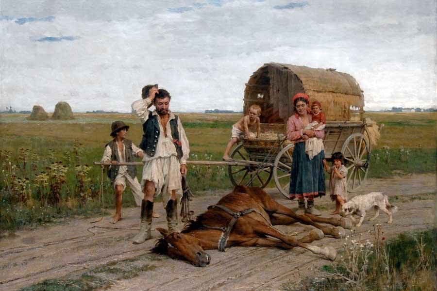 Selbst das romantisierte Zigeunerbild des 19. Jahrhunderts konnte die Schattenseiten des Daseins der Roma nicht verheimlichen.