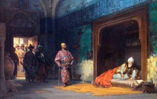 Der in der Schlacht bei Ankara 1402 geschlagene Sultan der Osmanen bliebt bis zu seinem Tode Gefangener des Siegers Timur.